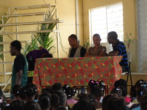 A drama introduced the choir.