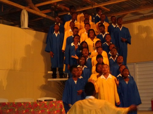 At Easter, we had four evenings of evangelism with The Singing Cross. Our church's choir performed it.  In the weeks preceding the concert, we gave out 10,000 tickets in twenty different schools and to our youth for them to invite their families and friends.
