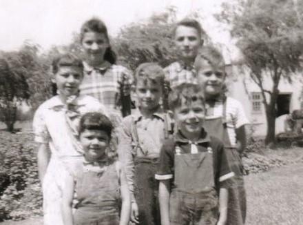 60-Louise, Félix, Réjane, Alain, Mario Girouard,  Fernande, Laurent